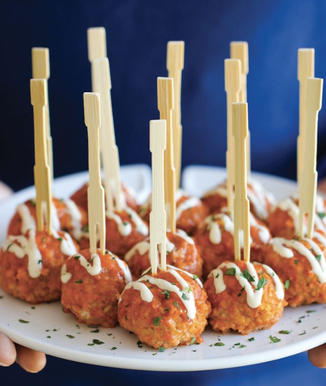 """<strong>Get the <a href=""""http://damndelicious.net/2014/04/30/slow-cooker-buffalo-chicken-meatballs/"""" target=""""_blank"""">Slow Coo"""
