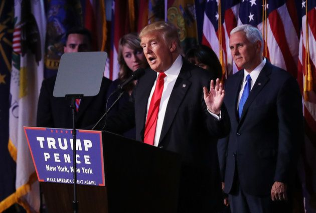 Trump celebrates his election