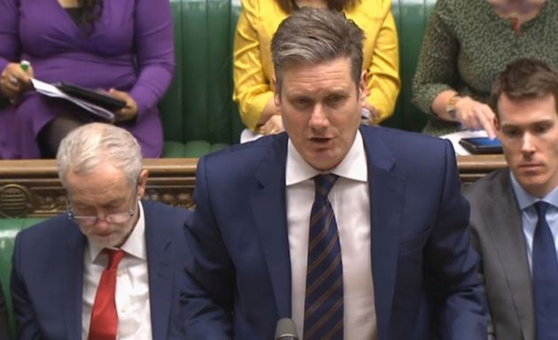 Shadow Brexit Secretary Keir Starmer speaks in the House of Commons, London during the second reading...
