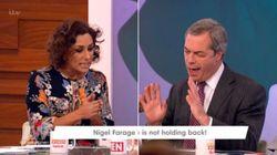 Farage Attacked By Saira Khan Over Inflammatory Rhetoric In Fiery Loose Women