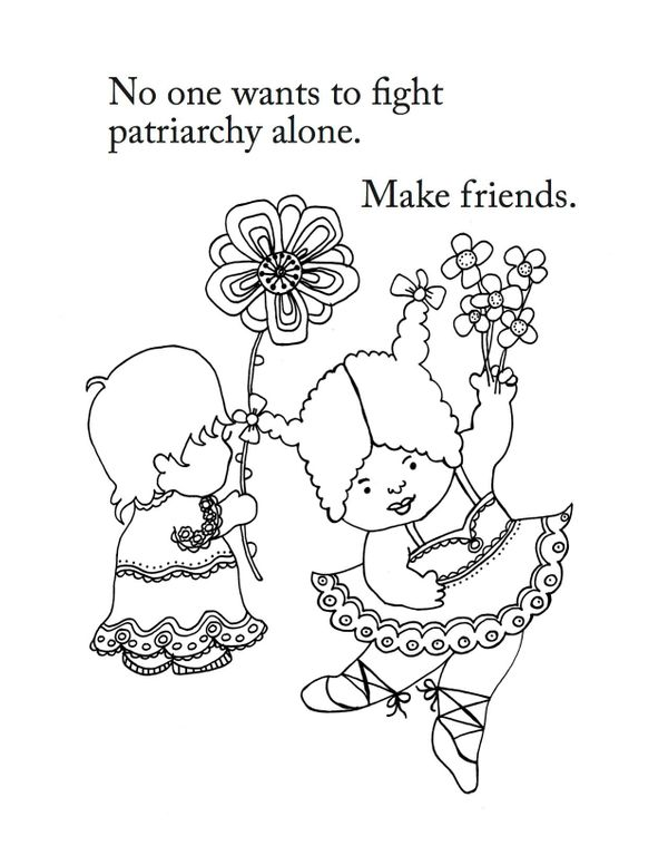 see more pages from the girls are not chicks coloring book below and learn more about it at reach and teach