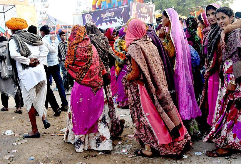 <em>A whirl of motion at the Pushkar Camel Fair</em>    ����E�