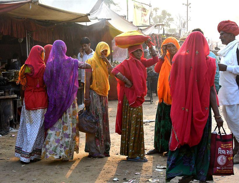 <em>The market the Pushkar Camel Fair</em>