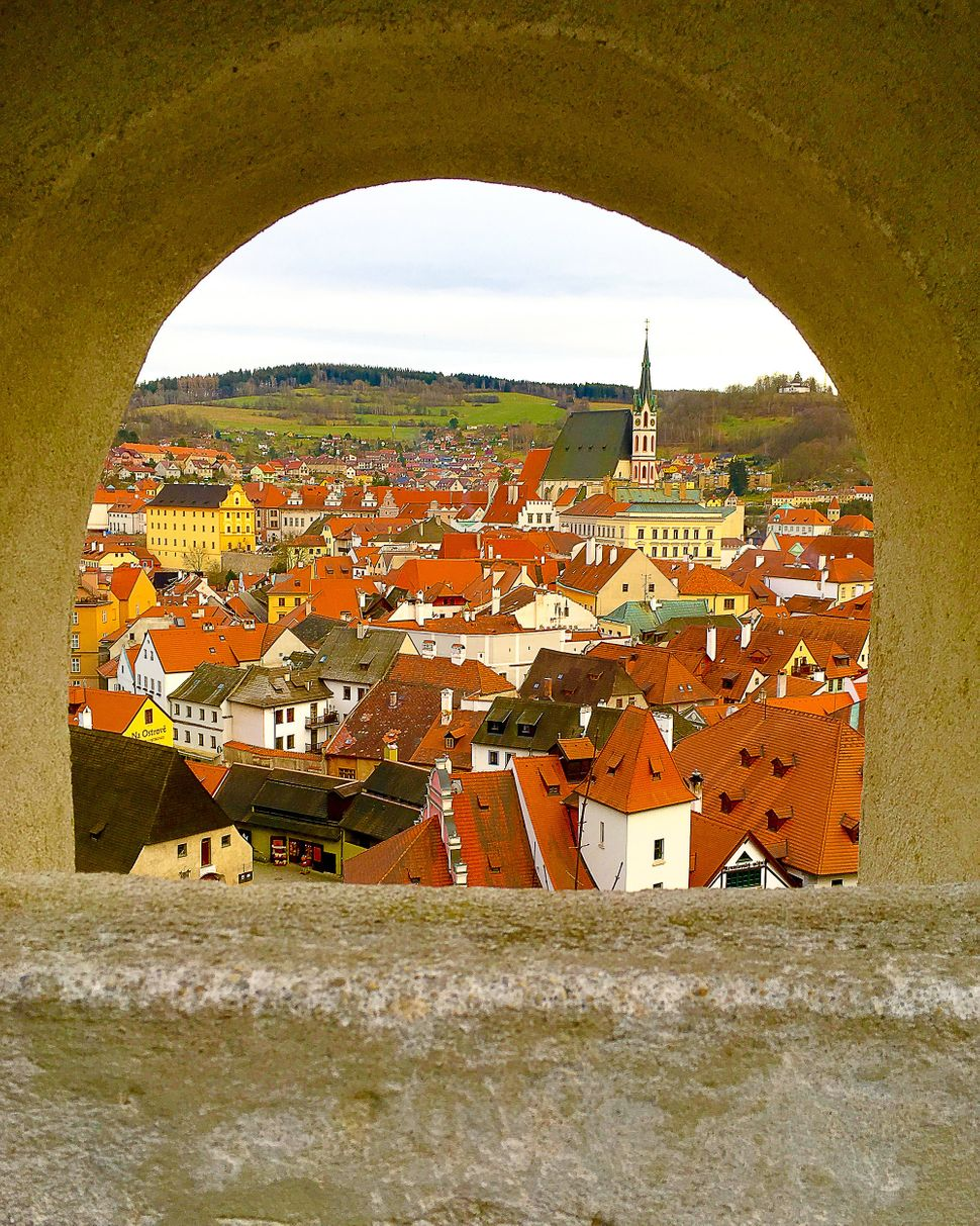 "Alexia Saigh, 14<br>""Take a peek through this archway into the beautiful southern Bohemian town of Cesky Krumlov located in t"