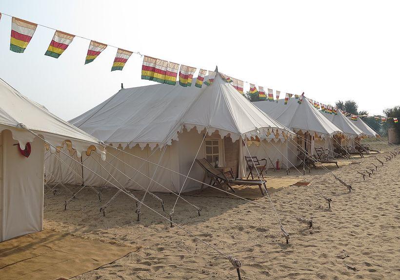 <em>Royal Jodhpur Camp provides luxurious accommodations at the Pushkar Camel Fair </em>