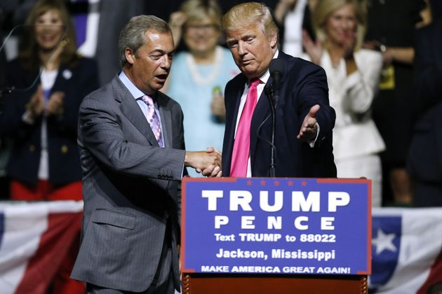 Former Ukip leader Nigel Farage on the campaign trail with Donald Trump last