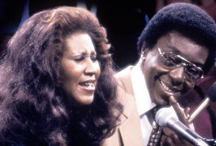 Aretha Franklin with show host and producer Don Cornelius. Franklin was one of many entertainers who performed on 'Soul Train