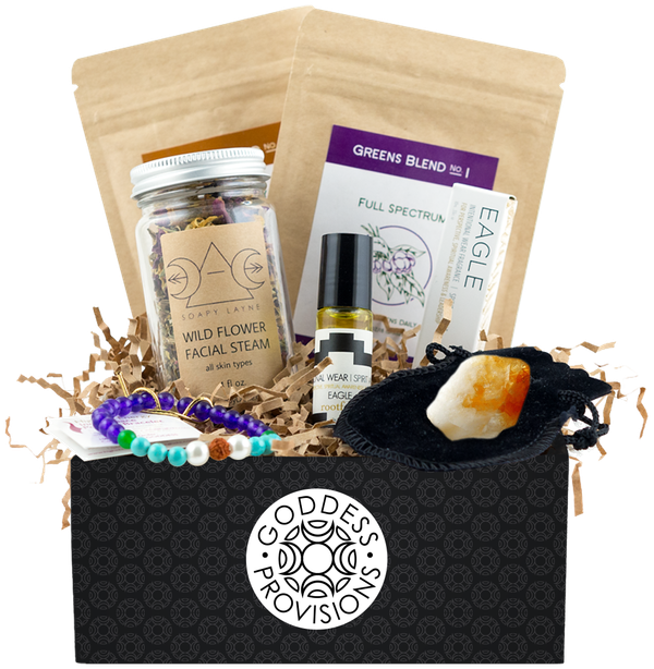 "$33+ per month, Goddess Provisions. Buy it <a href=""http://www.goddessprovisions.com/subscribe/55509054_Goddess+Provisions+Bo"