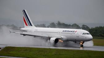 An Air France aircraft lands at Manchester Airport in Manchester, Britain June 28, 2016. REUTERS/Andrew Yates