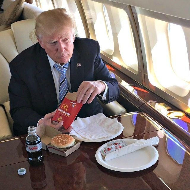 <p><em>Donald Trump enjoying a celebratory fast-food meal last May after clinching the GOP presidential nomination. (Instagram&#x2F;@realdonaldtrump)</em></p>