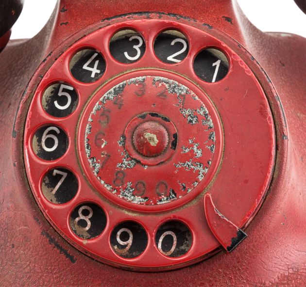 The rotary dial phone is up for auction in the US - after British museums and auction houses refused...