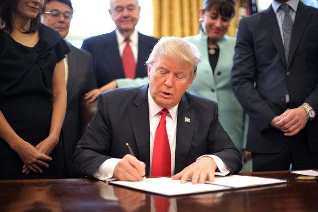 Signing an order causing America's Brain Drain.