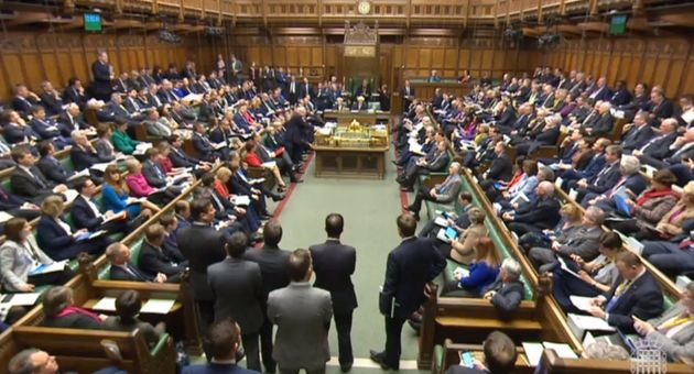 A full House of Commons, London during the second reading debate on the EU (Notification on Withdrawal)