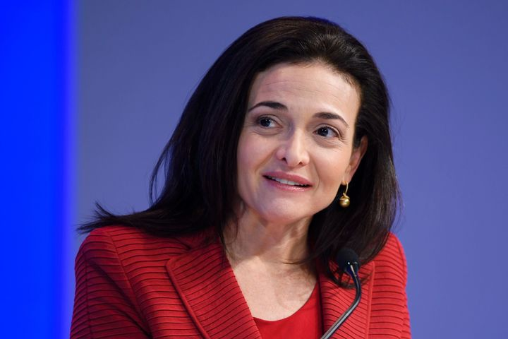 Sheryl Sandberg, pictured in Davos this month.