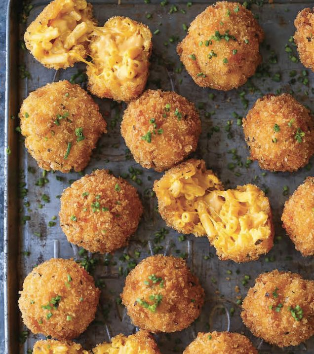 """<strong>Get the <a href=""""http://damndelicious.net/2016/11/27/fried-mac-cheese-balls/"""" target=""""_blank"""">Fried Mac And Cheese Ba"""