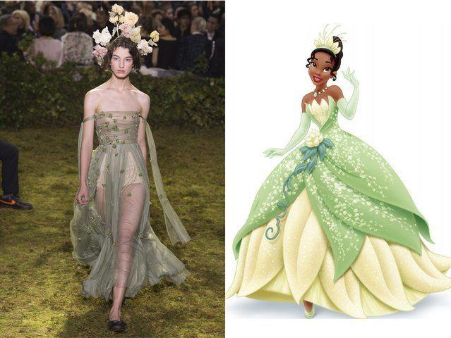 <p>Christian Dior; Princess Tiana from <em>The Princess and the Frog</em></p>