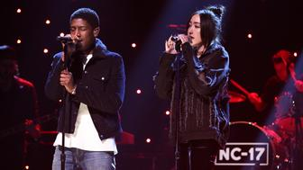 THE TONIGHT SHOW STARRING JIMMY FALLON -- Episode 0613 -- Pictured: Musical guest Noah Cyrus featuring Labrinth performs on January 30, 2017 -- (Photo by: Andrew Lipovsky/NBC/NBCU Photo Bank via Getty Images)