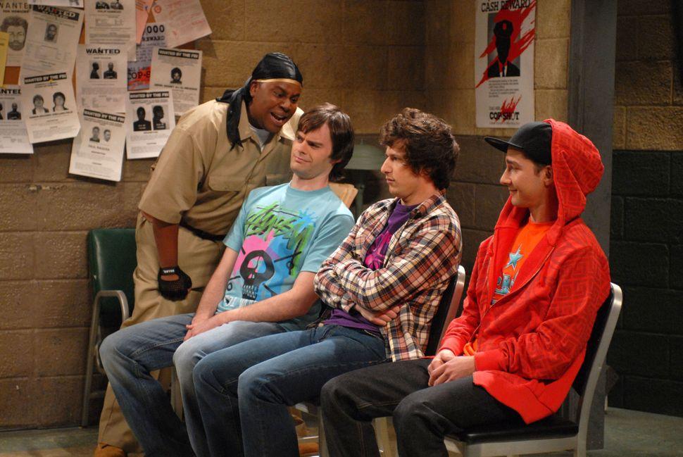 "Kenan Thompson playsLorenzo McIntosh during a ""Scared Straight"" skitin 2008."