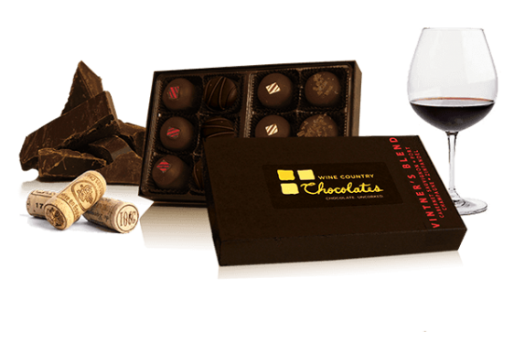 "$23.00, Wine Country Chocolates. Buy it <a href=""http://www.winecountrychocolates.com/product/truffles/vintners-blend-twelve-"