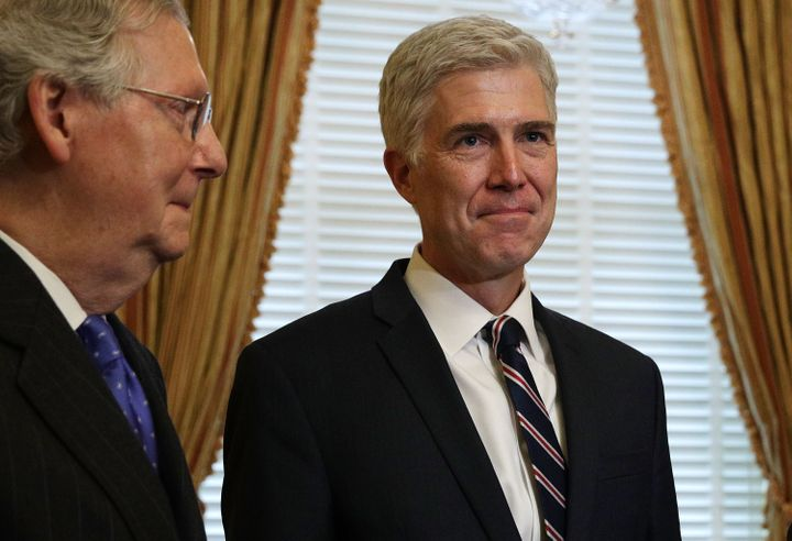 Mitch McConnell wasted no time in meeting with Neil Gorsuch. He never gave Merrick Garland a hearing.