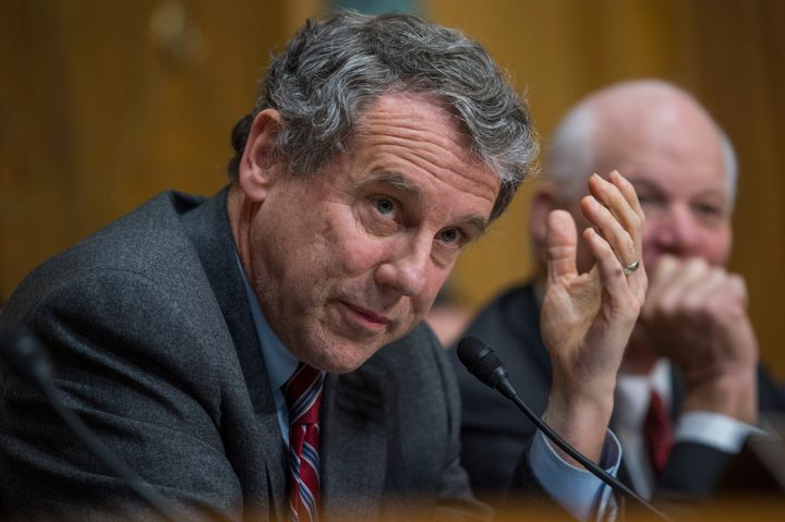 "Sen. Sherrod Brown (D) says he's ""amazed"" Republicans are going along with Trump's agenda since they complain so much about h"