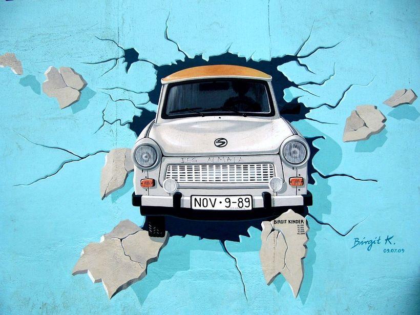 Graffiti Berlin Wall Trabant Breakthrough