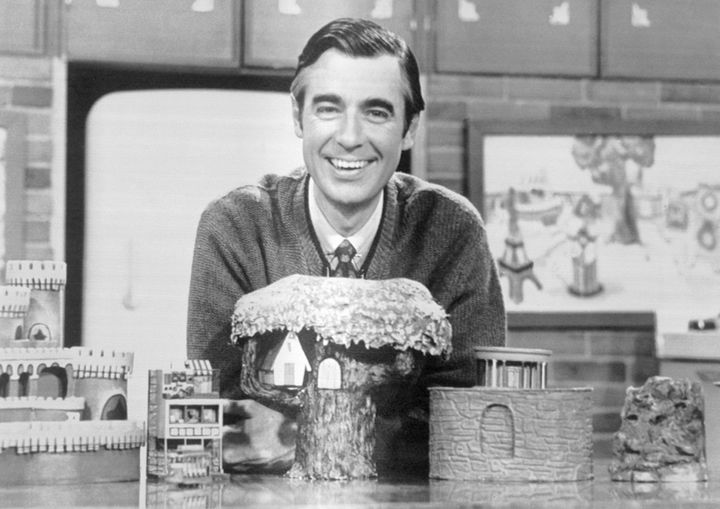 "Fred Rogers ended his program with, ""There's no person in the whole world like you and I like you just the way you are."""