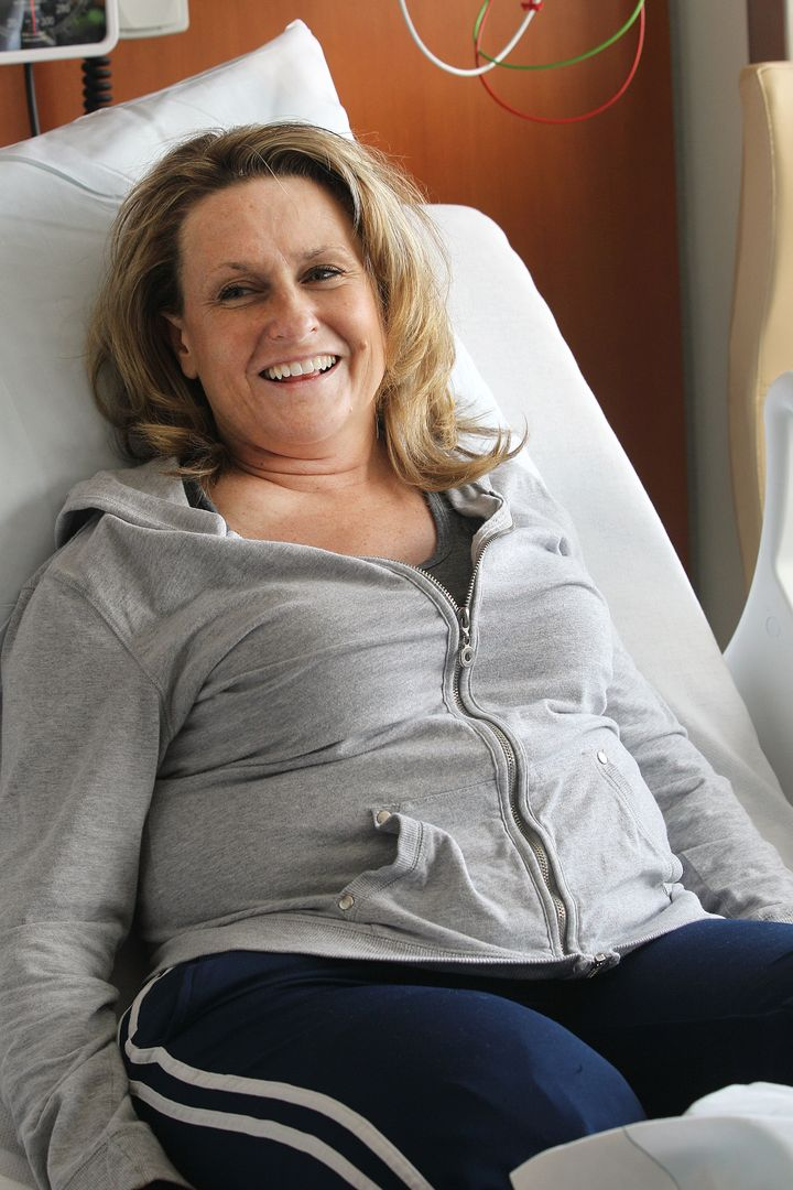 Roseann Sdoia in the hospital after the bombings.