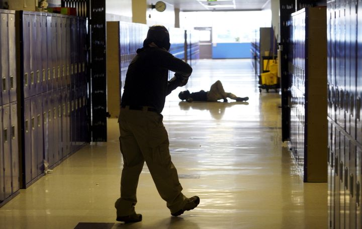 Denver middle school students participate in an Active Shooter Response course offered by TAC ONE Consulting on April 2, 2016