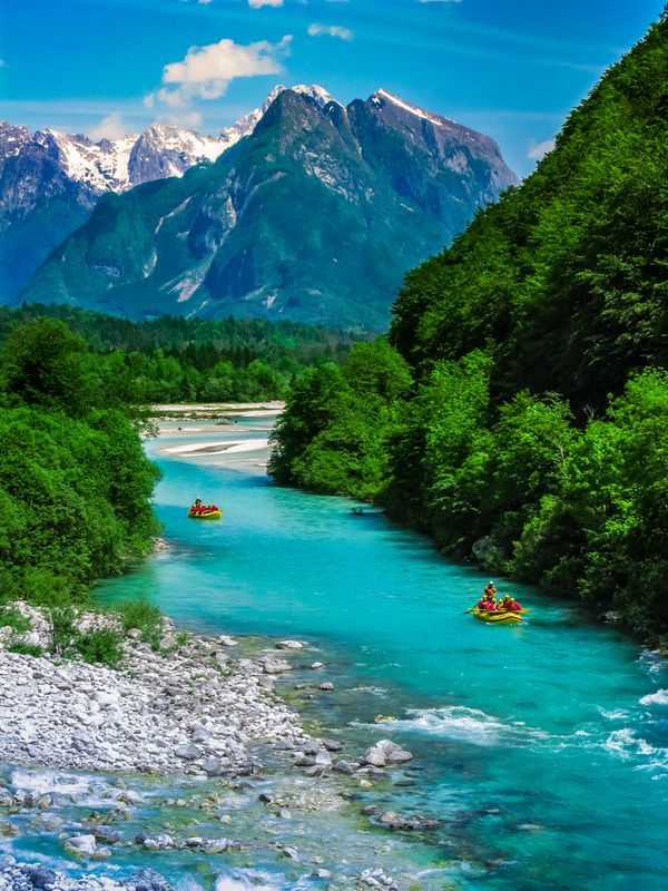"""Kayaking, rafting and canyoning are common fareon the stunning<a href=""""https://www.slovenia.info/en/places-to-go/"""