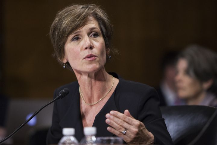 Deputy Attorney General Sally Quillian Yates speaks during a Senate Judiciary Committee hearing in Washington, D.C., July 8,