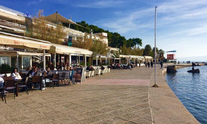 Cafes at Bačvice Beach