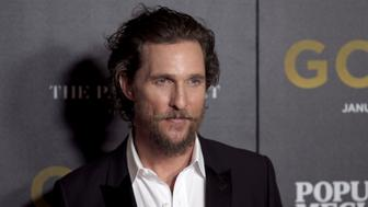 NEW YORK, NY - JANUARY 17:  Actor Matthew McConaughey attends The World Premiere of 'Gold' hosted by TWC - Dimension with Popular Mechanics, The Palm Court & Wild Turkey Bourbon at AMC Loews Lincoln Square 13 theater on January 17, 2017 in New York City.  (Photo by Dimitrios Kambouris/Getty Images)