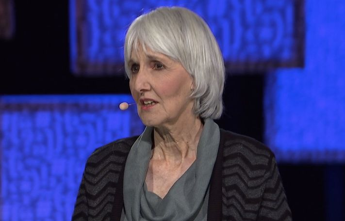 Sue Klebold, giving a talk at the TEDMED Conference in La Quinta, California on November 30, 2016.