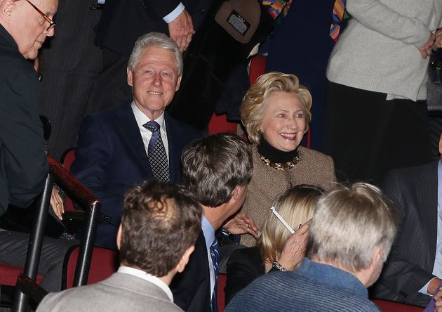 Hillary, Bill Clinton Get a Standing Ovation at Broadway's 'In Transit'