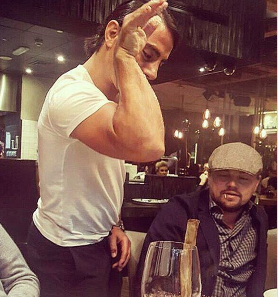 Salt Bae Serving Leonardo DiCaprio Gives Us A Dash Of