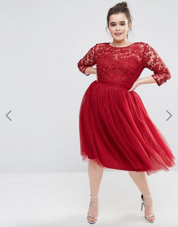 "<a href=""http://us.asos.com/little-mistress-plus/little-mistress-plus-short-sleeve-lace-bodice-midi-dress-with-tulle-skirt/pr"
