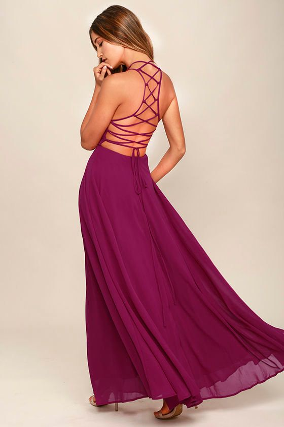 """<a href=""""https://www.lulus.com/products/strappy-to-be-here-magenta-maxi-dress/359202.html"""" target=""""_blank"""">Strappy To Be Here"""