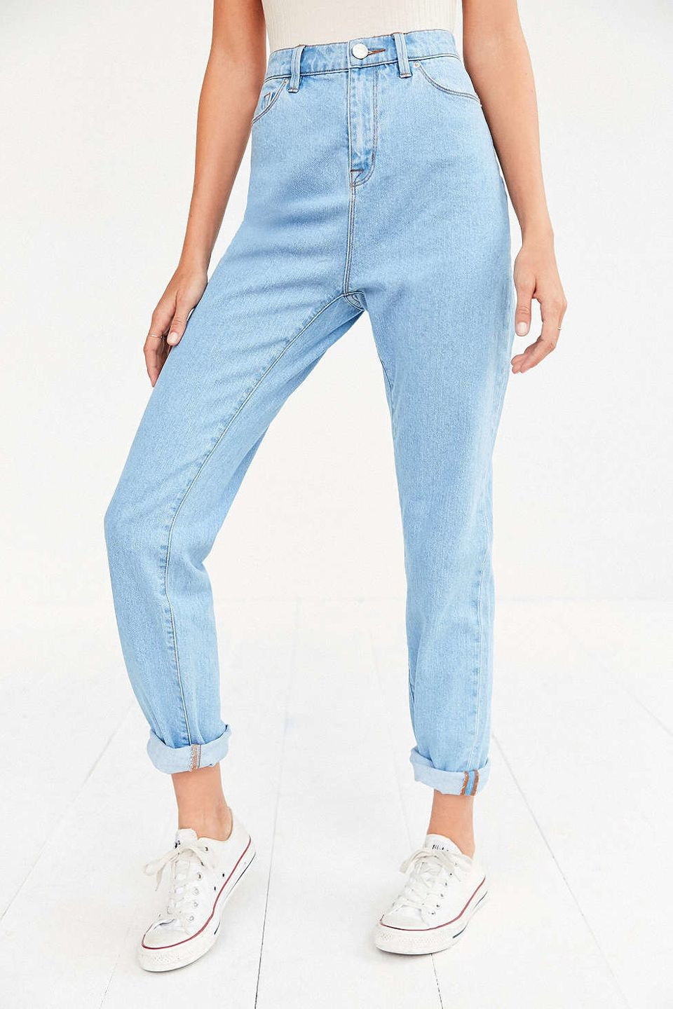 Bdg Style Idaho Project Kitchen: Topshop Wants You To Buy 'Mom Jeans' With Clear Plastic Kneecaps