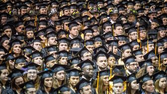 PORTLAND, ME - MAY 22: Southern Maine Community College held its 69th annual graduation ceremonies at the Cross Insurance Arena in Portland Sunday, May 22, 2016. The school graduated nearly 1,100 students. (Photo by Gabe Souza/Portland Press Herald via Getty Images)