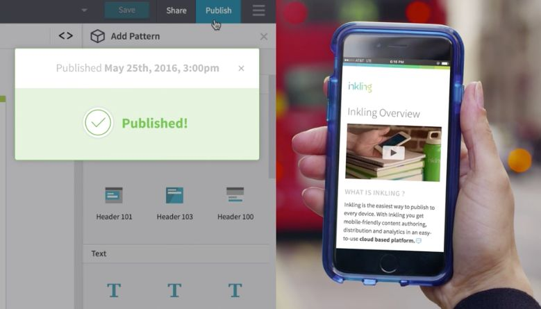 Inkling's mobile platform allows companies to upload content to educate, train, and onboard employees.