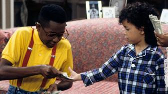 "FAMILY MATTERS - ""Boom"" - Airdate: September 20, 1991. (Photo by ABC Photo Archives/ABC via Getty Images) JALEEL WHITE;BRYTON JAMES;JAIMEE FOXWORTH"