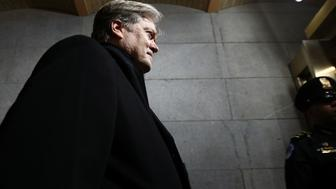 WASHINGTON, DC - JANUARY 20:  Senior Counselor to the President Steve Bannon arrives before the presidential inauguration on the West Front of the U.S. Capitol on January 20, 2017 in Washington, DC. In today's inauguration ceremony Donald J. Trump becomes the 45th president of the United States.  (Photo by Win McNamee/Getty Images)