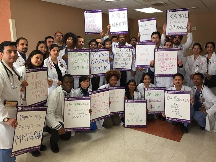 Dr. Kamal Fadlalla's colleagues send him their show of support.