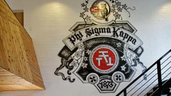 LOS ANGELES, CA - OCTOBER 18, 2012 - newly remodeled Phi Kappa Sigma fraternity house at USC, October 18, 2012. The graffiti-laden frat house had been remodeled by Mass Architecture principal Ana Henton into a residence that looks downright Dwell-worthy. (^^^/Los Angeles Times).  (Photo by Ricardo DeAratanha/Los Angeles Times via Getty Images)