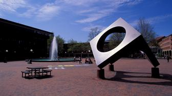 FLORIDA, UNITED STATES - 2000/01/01: USA, Washington, Bellingham, Western Washington State University, Sculpture & Fountain. (Photo by Wolfgang Kaehler/LightRocket via Getty Images)