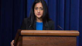 In the South Court Auditorium of the Eisenhower Executive Office Building of the White House in Washington DC, on 16 December 2016, Vanita Gupta, Principal Deputy Assistant Attorney General, Civil Rights Division, U.S. Department of Justice, gave the keynote address for the forum: Advancing Equity for Women and Girls of Color. | ©2016 Photo by Cheriss May, www.cherissmay.com (Photo by Cheriss May/NurPhoto via Getty Images)