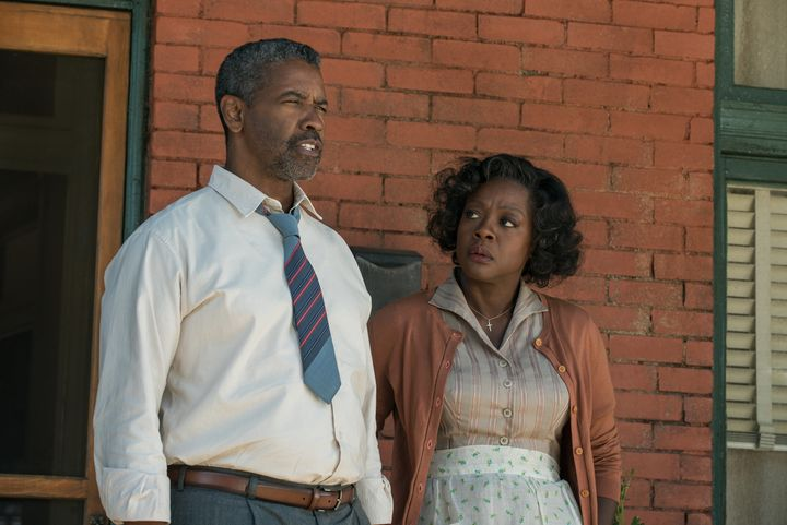 "Denzel Washington and Viola Davis play a 1960s couple in ""Fences."""