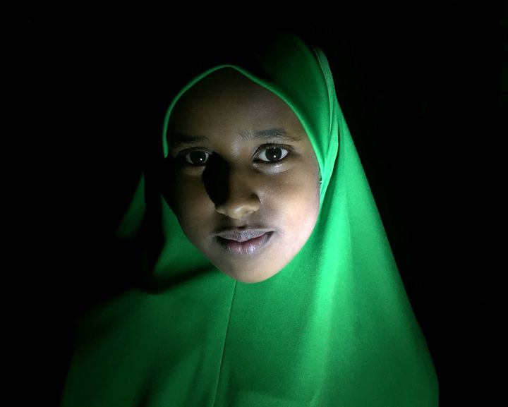 Ashe, an eleven year old refugee from Somalia, now living in Lancaster with her family.