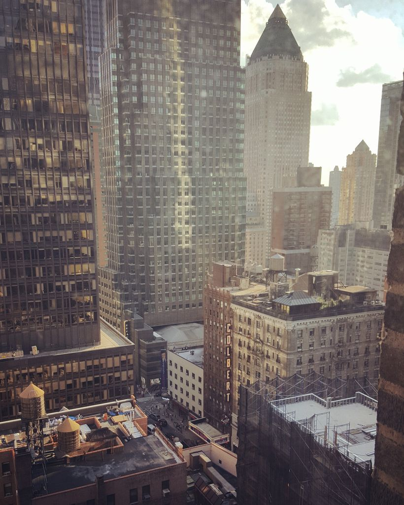 View from the Westhouse Hotel in Midtown  Manhattan.